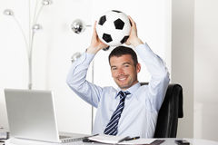 Footballer businessman Royalty Free Stock Photography