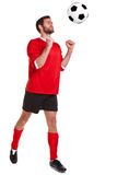 Footballer cut out on white Stock Photos