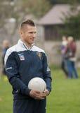 Footballer de Marcin Robak de Pogon Szczecin Pologne Images stock