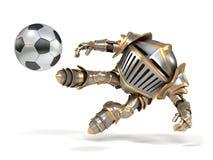 Footballer drôle de chevalier de bande dessinée Illustration de Vecteur