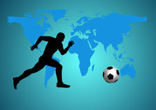Footballer play football. Royalty Free Stock Image
