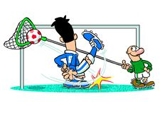 Footballer and goal keeper Stock Image