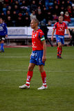 Footballer Henrik Larsson. Editorial image of now Helsingborg captain and ex glasgow celtic and Barcelona player Henrik Larsson in the center royalty free stock photo