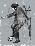 Footballer. Image of a disabled person who plays soccer Stock Photography