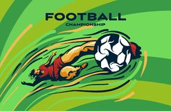 FOOTBALLER kicks the ball vector illustration