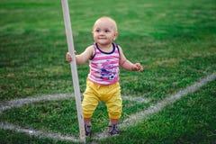 footballer little Royaltyfri Bild