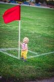 footballer little Royaltyfria Bilder