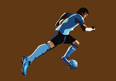 Footballer. Man beating on the ball Stock Images