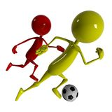 Footballer player Stock Image