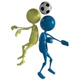 Footballer player Stock Image