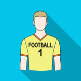 Footballer.Professions single icon in flat style vector symbol stock illustration web. Stock Photo