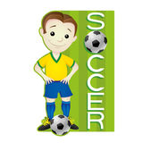 Footballer sign. Royalty Free Stock Photos
