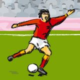 Footballer (vector) Stock Image