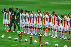 Footballers FC Shakhtar Stock Photography
