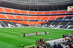 Footballers FC Shakhtar before of an open training Stock Images