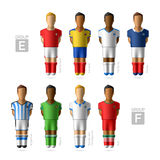 Footballers, soccer players. Brazil 2014. Footballers, soccer players. Brazil 2014, Group E and F Stock Image
