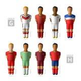 Footballers, soccer players. Brazil 2014. Footballers, soccer players. Brazil 2014, Group G and H royalty free illustration