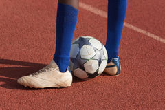 Footballeur Photos stock