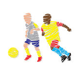 Footballeur abstrait illustration libre de droits