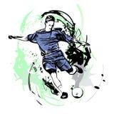 Footballeur avec la bille Photographie stock