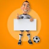 Footballeur avec la bille illustration libre de droits