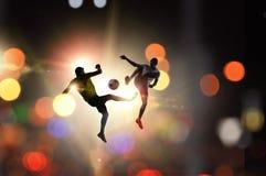 Footballeur avec la bille Images stock