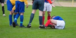 Footballeur blessé Royalty Free Stock Images