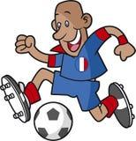 Footballeur de bande dessinée de Frances illustration stock