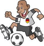 Footballeur de bande dessinée de l'Allemagne illustration de vecteur