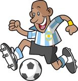 Footballeur de bande dessinée de l'Argentine illustration stock