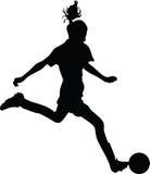 Footballeur de femme Photographie stock libre de droits
