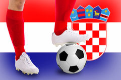 Footballeur de la Croatie Photographie stock