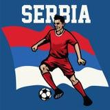 Footballeur de la Serbie Photographie stock libre de droits