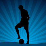Footballeur de plage Photographie stock libre de droits