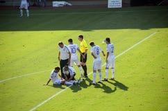 Footballeur grec blessé - Pantelis Kafes Photographie stock