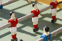 Footballeur rouge dans le jouet Photographie stock