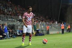 Footballeur ruisselant Images libres de droits