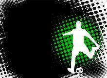 Footballeur sur le fond abstrait Photographie stock libre de droits