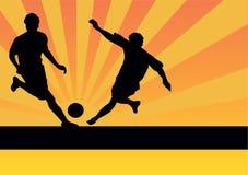 Footballeurs illustration libre de droits