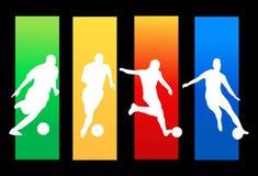 Footballeurs Photos libres de droits