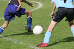 Footballeurs Images libres de droits