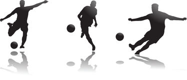 footballeurs Photo libre de droits
