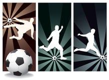 Footballeurs de vecteur Images libres de droits