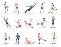 Footballeurs réglés illustration stock