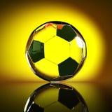 Footballl - jaune Image libre de droits