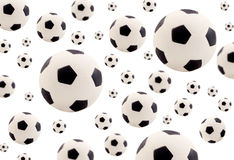 Footballs background Royalty Free Stock Photo