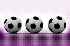 Footballs in Halftone Background Stock Photography