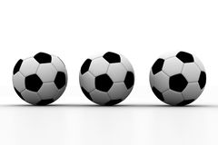 Footballs on isolated white background Royalty Free Stock Photography