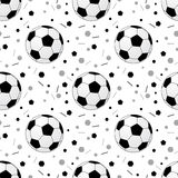 Footballs pattern Stock Image
