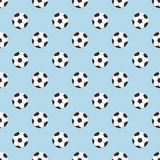 Footballs seamless pattern Royalty Free Stock Photos